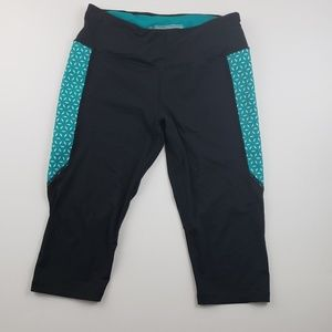 Victoria's Secret Sport Black and Blue Capri legg